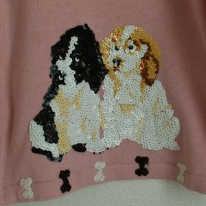 storybrook knits Sweaters - Vintage sequin dog lover cardigan sweater